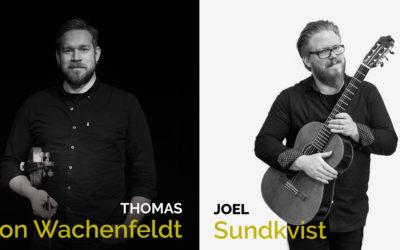 Ma 30.3. klo 19 Duo von Wachenfeldt & Sundkvist (SE)