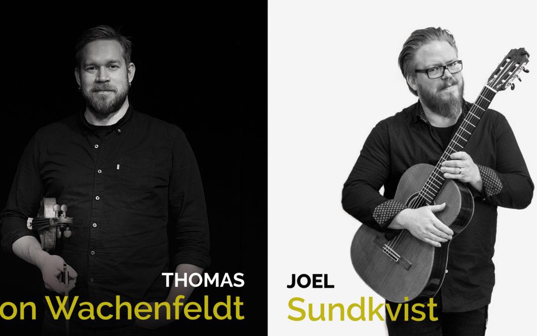 Mo 30.3. at 19 Duo von Wachenfeldt & Sundkvist (S)